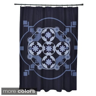 Tribal Floral Geometric Pattern Shower Curtain