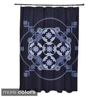 Tribal Floral Geometric Pattern Shower Curtain