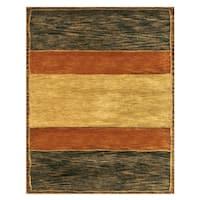 "Grand Bazaar Tufted 100-percent Wool Pile Cartesia Rug in Gold/Charcoal 3'-6"" x 5'-6"" - 3'-6"" x 5'-6"""