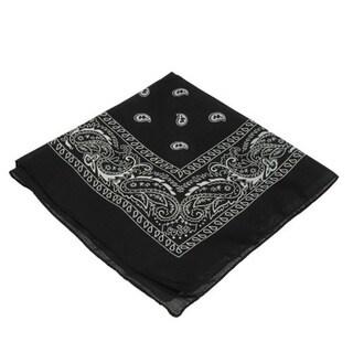 Black Traditional Paisley Bandanna