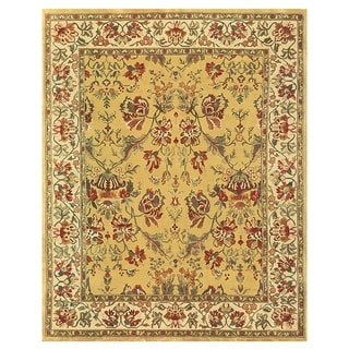 "Grand Bazaar Hand-knotted 100-percent Wool Pile Tamara Rug in Gold/Ivory 3'-6"" x 5'-6"""