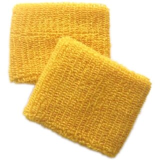 Gold Terry Cotton Sports Wristbands (Pair)