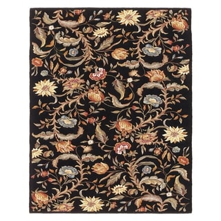 "Grand Bazaar Tufted 100-percent Wool Pile Parisian Rug in Black - 3'-6"" x 5'-6"""