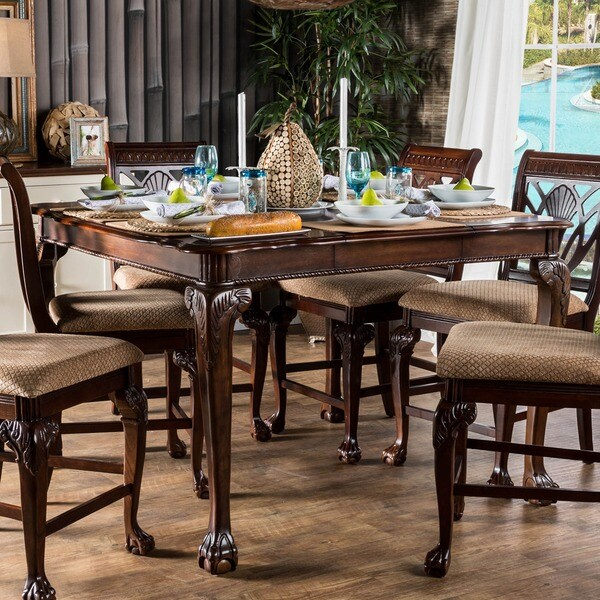 Furniture of America Ranfort Formal Counter Height Dining  : Furniture of America Ranfort Formal Counter Height Dining Table bae9904a 3046 4ee3 9083 a18297d92f69600 from www.overstock.com size 600 x 600 jpeg 112kB