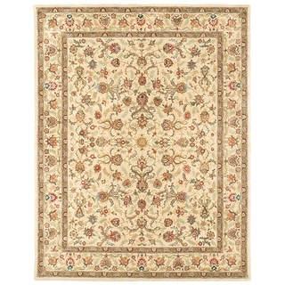 Grand Bazaar Tufted Rosemont Area Rug in Ivory/ Ivory (3'6 x 5'6)