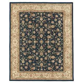 "Grand Bazaar Tufted Rosemont Rug in Blue/Ivory 3'-6"" x 5'-6"""