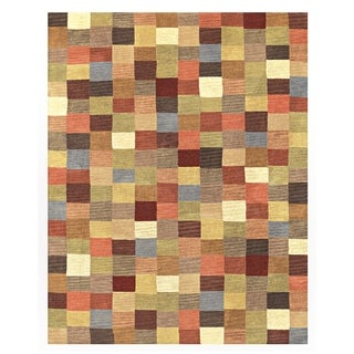 """Grand Bazaar Hand-knotted 100-percent Wool Pile Pyramid Rug in Multi 3'-6"""" x 5'-6"""" - 3'6"""" x 5'6"""""""