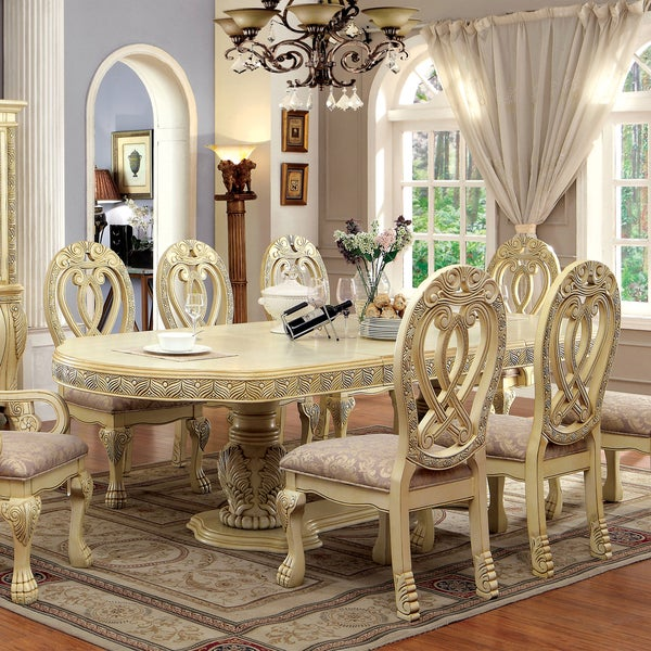 Formal Dining Table: Shop Furniture Of America Beaufort Formal 112-inch Dining