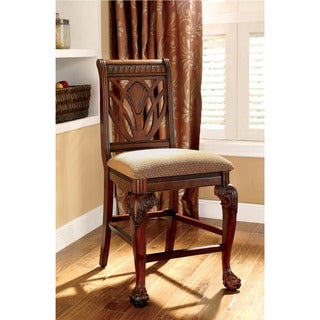 Furniture of America Ranfort Formal Cherry Counter Height Chair (Set of 2)