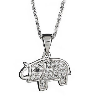 Decadence Sterling Silver Micropave Elelphant Pendant