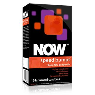 NOW Speed Bumps - Ribbed Condoms, 10 count