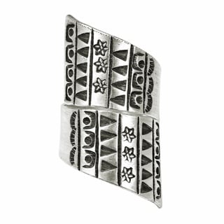 Tribal Patterns Thai Karen Hill Tribe Wrap Fine Silver Ring (Thailand)