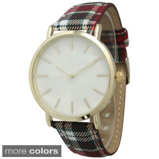 Olivia Pratt Women's Plaid Band Watch