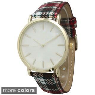 Olivia Pratt Women's Plaid Band Watch (2 options available)