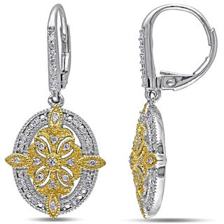 Miadora Sterling Silver 1/4ct TDW Diamond Dangle Earrings (G-H, I2-I3)