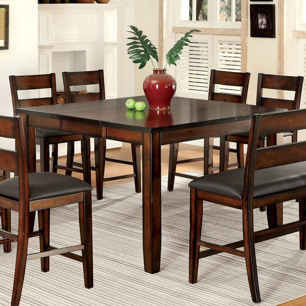 Katrine Transitional Dark Cherry Counter Height Dining Table by FOA