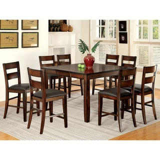 Furniture of America Paur Modern Cherry 9-piece Counter Dining Set
