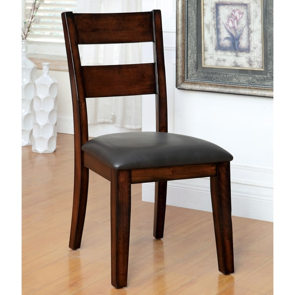 furniture of america katrine dark cherry counter height dining chair