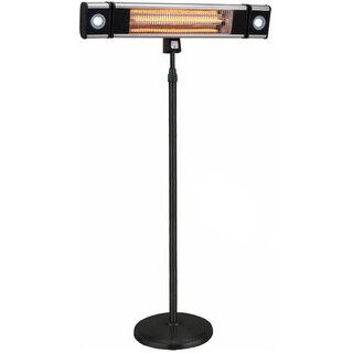 EnerG+ HEA-218CSLR 1500 Watt Free Standing Outdoor Electric Infrared Heater with LED Lights