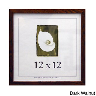 "Architect Picture Frame (12"" x 12"") (Option: Dark Walnut)"