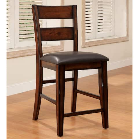 Furniture of America Paur Rustic Cherry Counter Chairs (Set of 2)