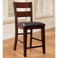 Furniture of America Katrine Dark Cherry Counter Height Dining Chair (Set of 2)