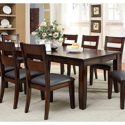 Furniture of America Paur Cottage Cherry 78-inch Expandable Dining Table