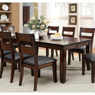 Link to Furniture of America Paur Cottage Cherry 78-inch Dining Table Similar Items in Dining Room & Bar Furniture
