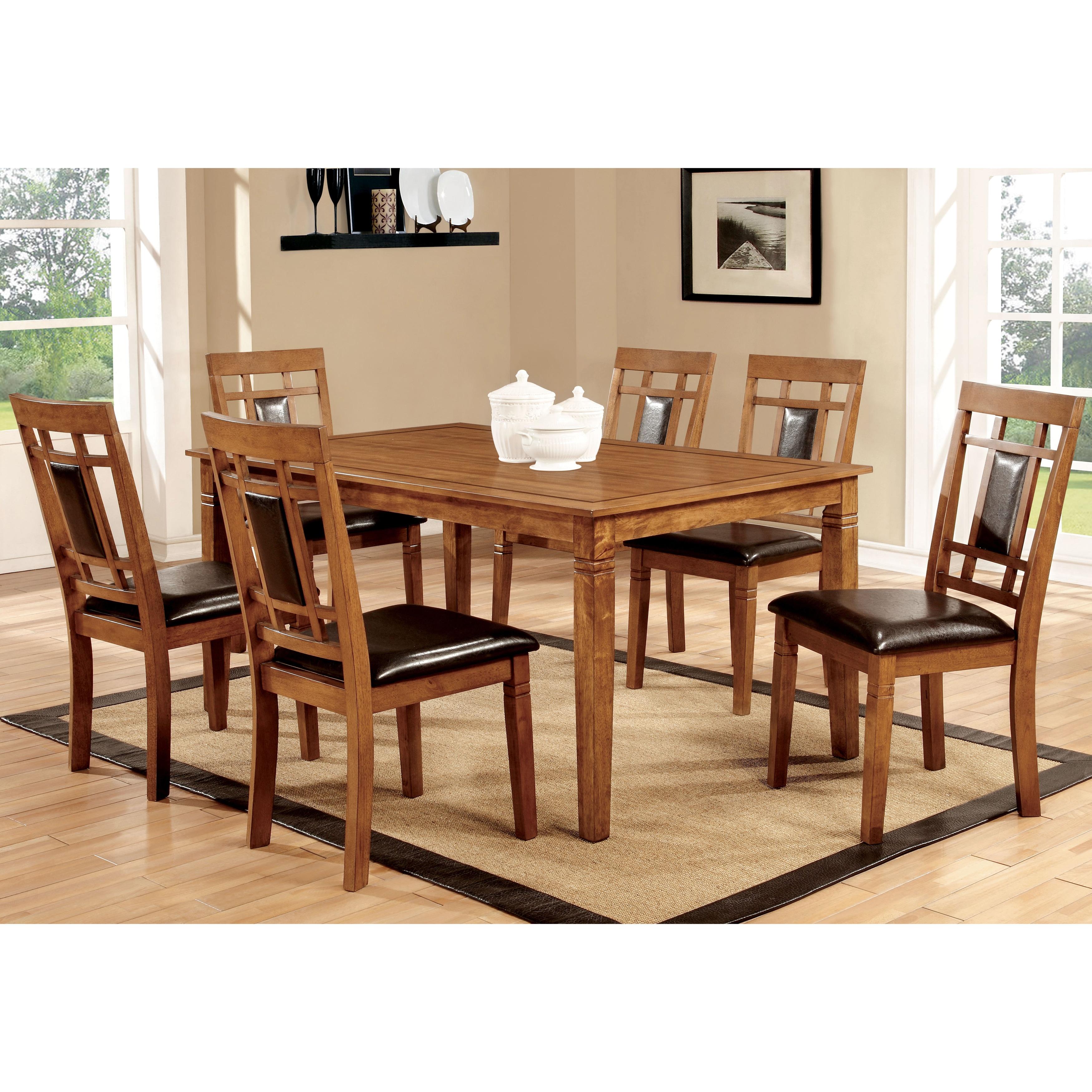 Furniture of America Bennett 7-piece Light Oak Dining Set...