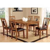 Furniture of America Bennett 7-piece Light Oak Dining Set