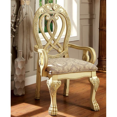 Beaufort Traditional Formal Arm Chairs (Set of 2) by FOA