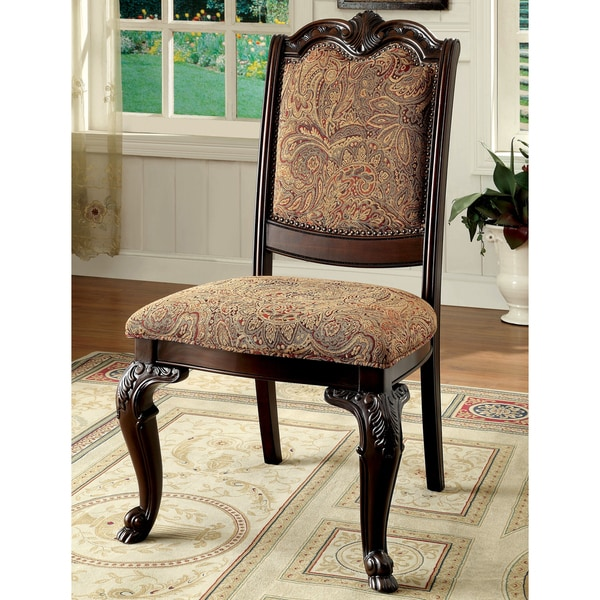 Superbe Furniture Of America Oskarre Formal Fabric Dining Chairs (Set Of 2)   27 1