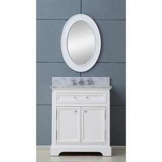 Water Creation Derby 24-inch Solid White Single Sink Bathroom Vanity