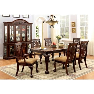 Furniture of America Ranfort Formal 7-Piece Cherry Dining Set