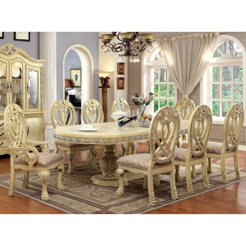 Furniture of America Moka Traditional Solid Wood 7-piece Dining Set