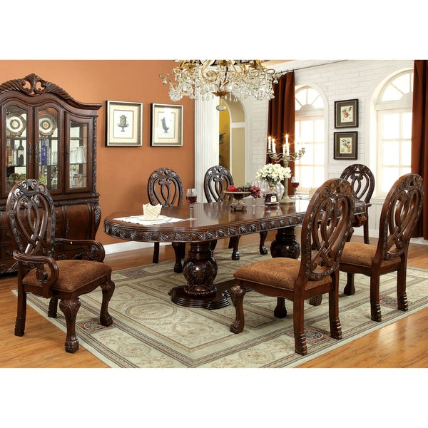 Brussels Traditional Dining Room Set 7 Piece Set: Shop Furniture Of America Beaufort Formal 7-Piece Dining