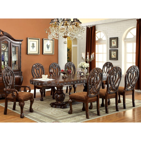 Traditional Dining Room Furniture Sets: Furniture Of America Beaufort Formal 9-Piece Dining Set