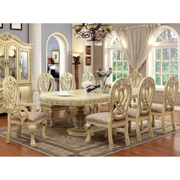 Traditional Dining Room Furniture Sets: Shop Furniture Of America Moka Traditional Solid Wood 9