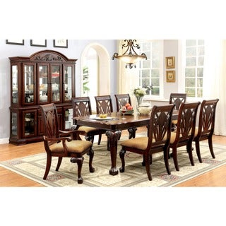 Furniture of America Ranfort Formal 9-Piece Cherry Dining Set