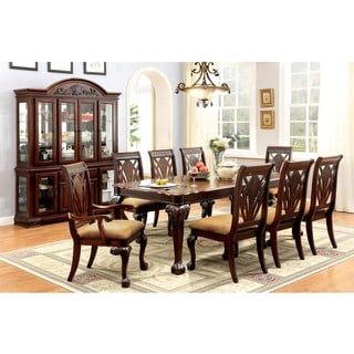 Size 9 piece sets dining room sets shop the best deals for Furniture of america dallas texas