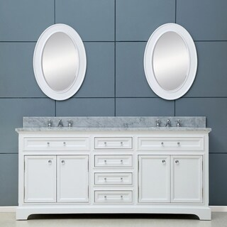 Water Creation Derby 72-inch Solid White Double Sink Bathroom Vanity (4 options available)