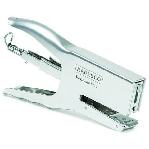 Rapesco Chrome Porpoise Classic Plier Stapler, 40 Sheet Capacity