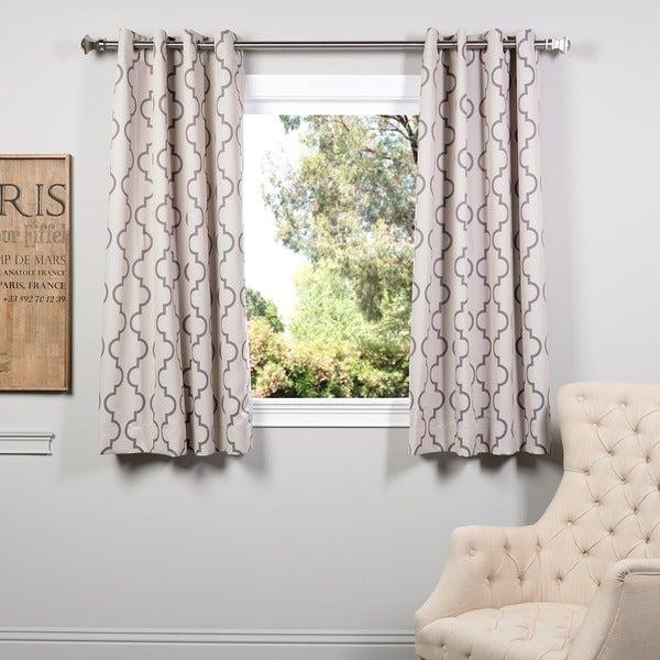 Exclusive Fabrics Seville Tan Grommet 63-inch Blackout Curtain ...