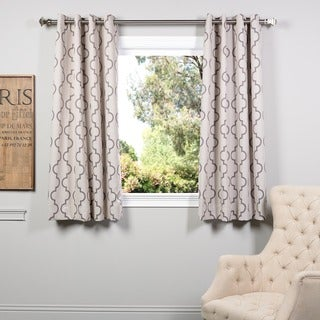 Exclusive Fabrics Seville Tan Grommet 63-inch Blackout Curtain Panel Pair