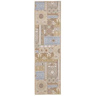 "Grand Bazaar Tufted Wool & Viscose Artivia Rug in Beige 2'-3"" x 8'"
