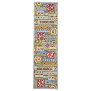 "Grand Bazaar Tufted Wool & Viscose Artivia Rug in Multi - 2'3"" x 8'"