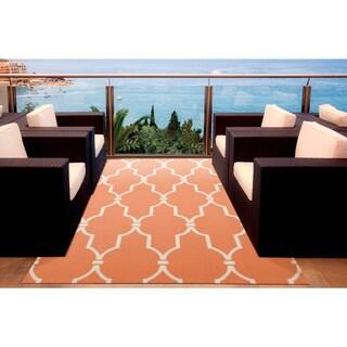 Rug Squared Palmetto Lattice Indoor/ Outdoor Area Rug (10' x 13')