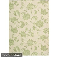 Rug Squared Palmetto Floral Indoor/ Outdoor Area Rug (7'9 x 10'10) - 7'9 x 10'10