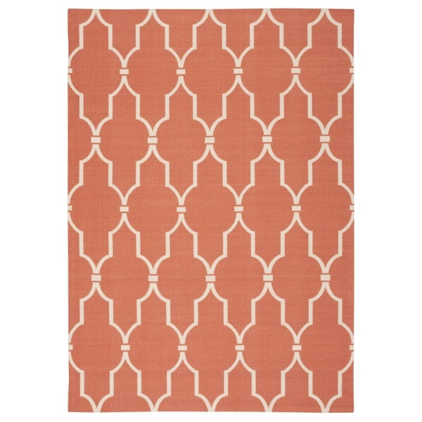 Rug Squared Palmetto Lattice Indoor/ Outdoor Area Rug (7'9 x 10'10) - 7'9 x 10'10