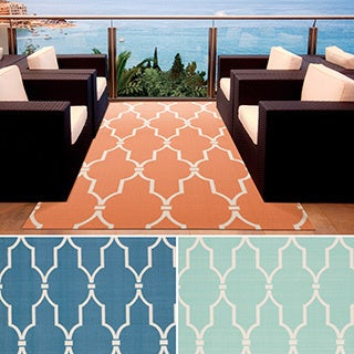 Rug Squared Palmetto Lattice Indoor/ Outdoor Area Rug (4'3 x 6'3)